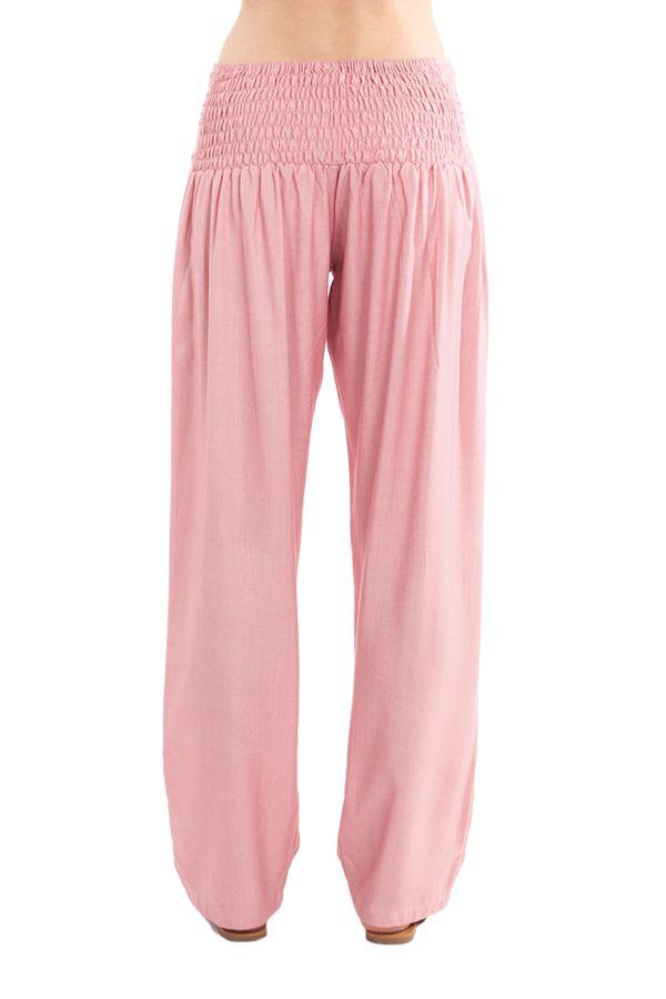 Pantalon taille basse pour femme Ethnique et Original Giulio Vieux Rose 282300