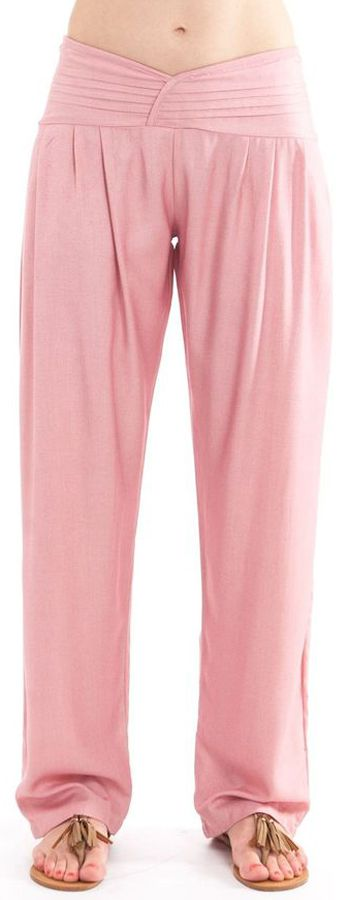 Pantalon taille basse pour femme Ethnique et Original Giulio Vieux Rose 282321