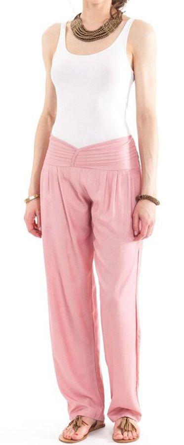 Pantalon taille basse pour femme Ethnique et Original Giulio Vieux Rose 282323