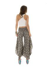Pantalon tendance coupe asymétrique avec imprimés ethniques Britani 289652
