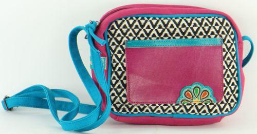 Petit sac Macha à bandoulière Ethnique et Coloré Karisa Fuschia 277232