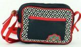 Petit sac Macha color� tons noir � bandouli�re Popy 271442