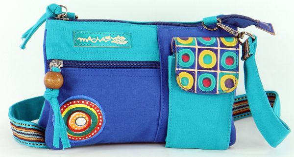 Pochette pour Femme en Coton Macha Originale et Colorée Sensa Bleue 277680