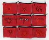 porte monnaie brod� rouge 238050