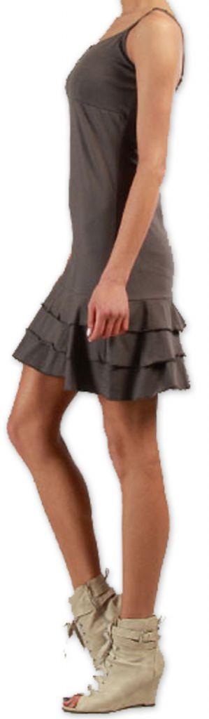Robe  à fines bretelles courte Originale et Colorée Innoa Grise 277088