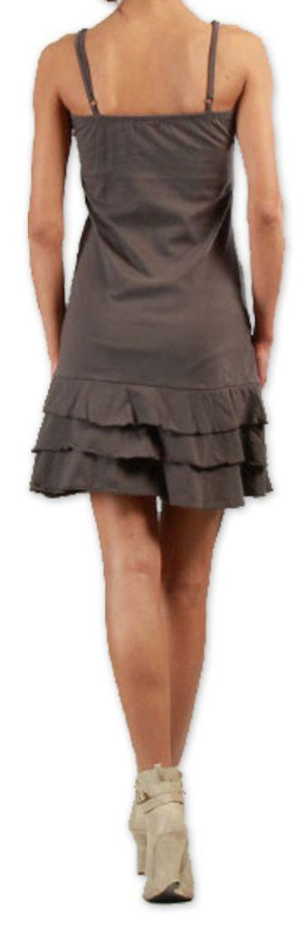 Robe  à fines bretelles courte Originale et Colorée Innoa Grise 277089