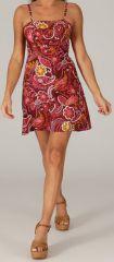 Robe à bretelles réglables Colorée et Fantaisie Vika Bordeaux 279415
