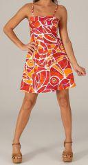 Robe à bretelles réglables Colorée et Fantaisie Vika Mosaique 279609
