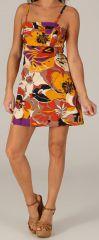 Robe à bretelles réglables Colorée et Fantaisie Vika Orange 279607