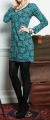 Robe � col rond et manches longues Originale et Imprim�e Ainoa 274214