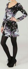 Robe � col rond et manches longues Originale et Imprim�e Aiss� 274215