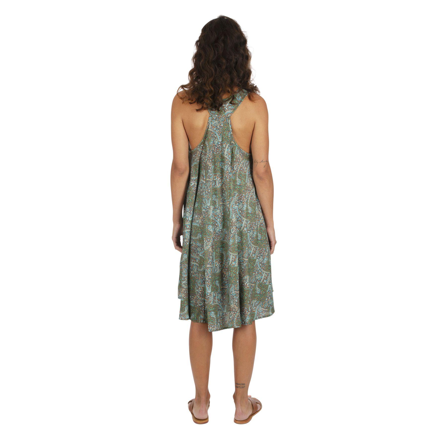 Robe à dos nageur imprimé bohème chic glamour Laeticia