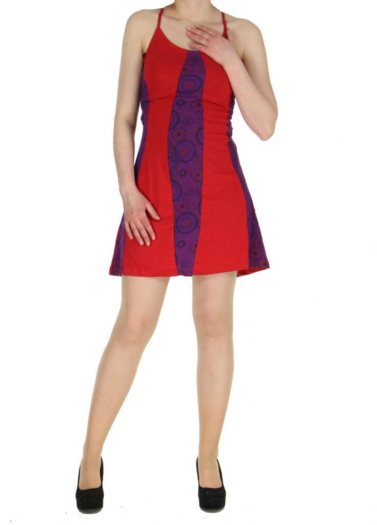 Robe à dos-nu rouge Noamia 268350