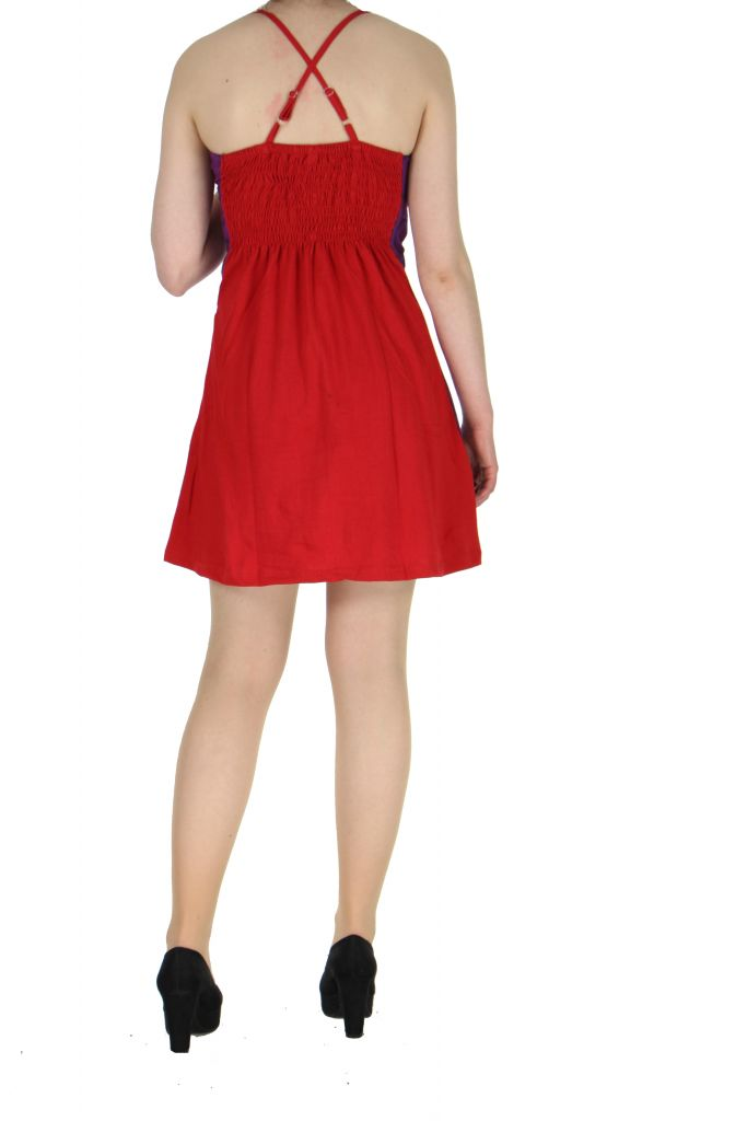 Robe à dos-nu rouge Noamia 268351