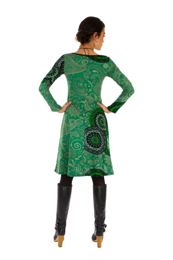 Robe à manches longues ethnique et colorée Anastasia 312654
