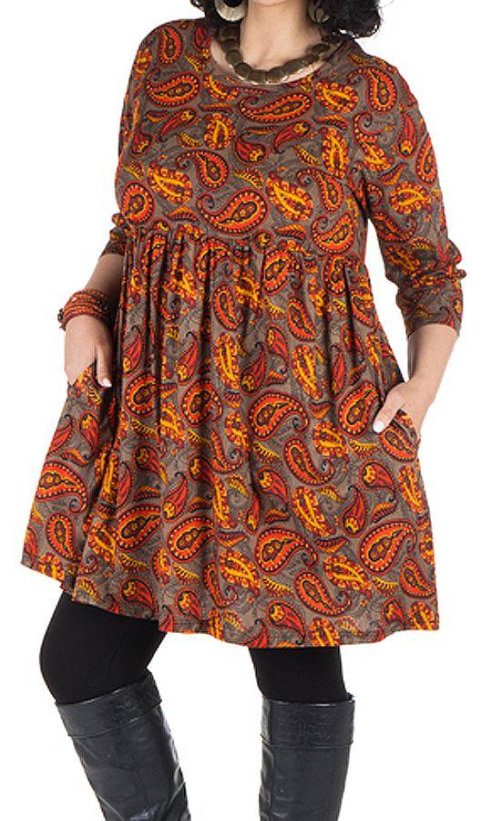 Robe à poche imprimée Cellule Nirmal 301669