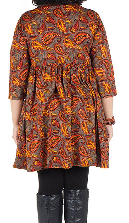 Robe à poche imprimée Cellule Nirmal 301672