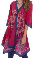 Robe Asymétrique forme Kimono Originale et Colorée Kashia Rose 281966