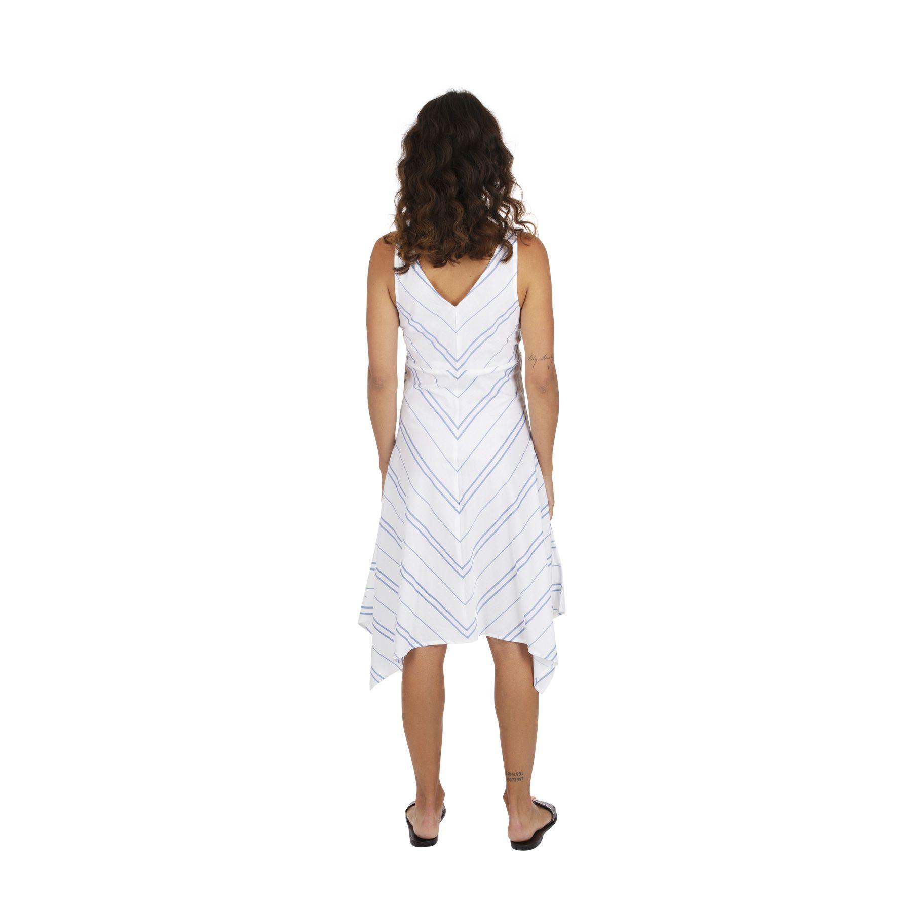 Robe asymétrique mi longue blanche pour mariage originale Colina