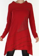 Robe Asym�trique Originale et esprit Tribal Tr�sor Rouge 277970