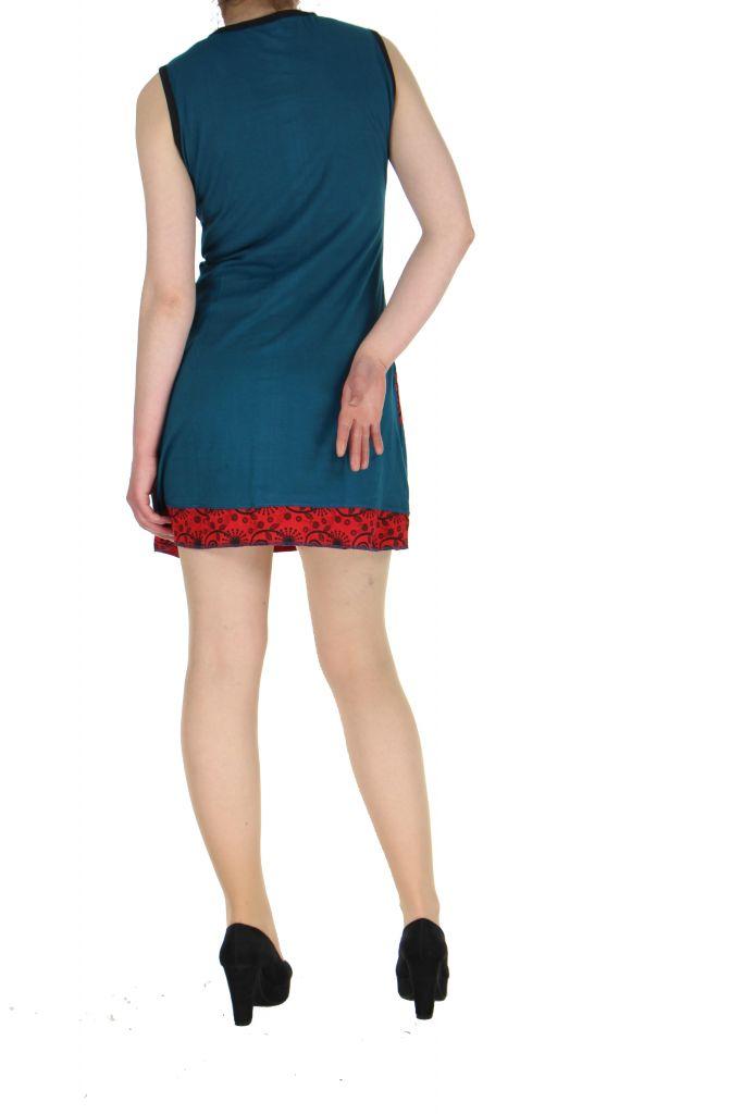 Robe bleue en coton Samia 268386