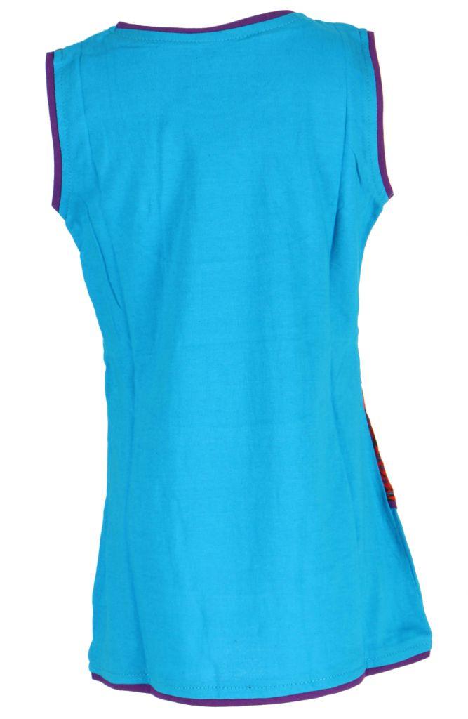 Robe bleue imprimée pour fille Néréa 268705