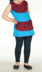 Robe bleue imprim�e pour fille N�r�a 270799
