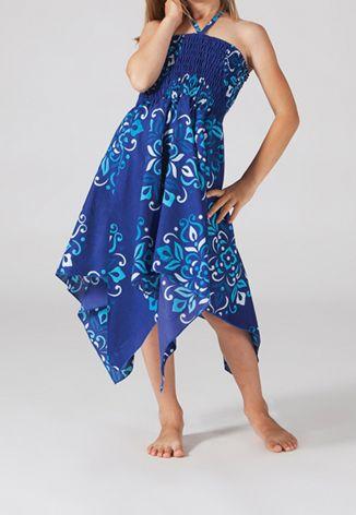 Robe bustier fillette bleue Wendy 267999