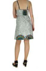 Robe colorée dos-nu blanche Alexa 268246