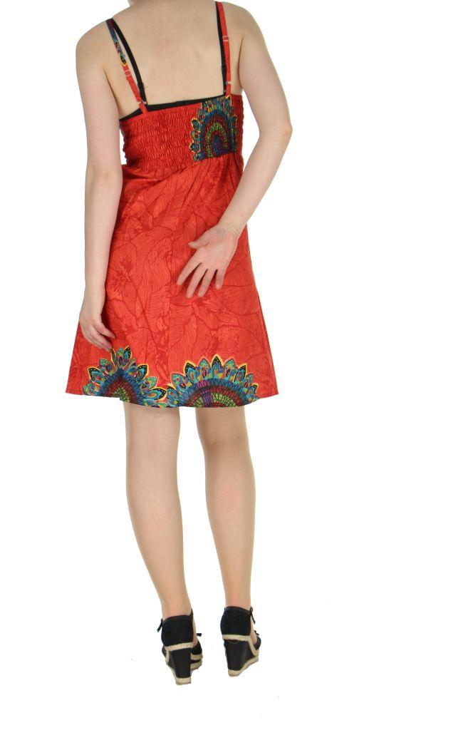 Robe colorée dos-nu rouge Alexa