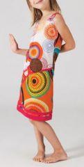 Robe color�e fillette Adeline 268005