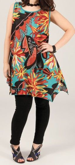 Robe colorée pour femme ronde Debbie