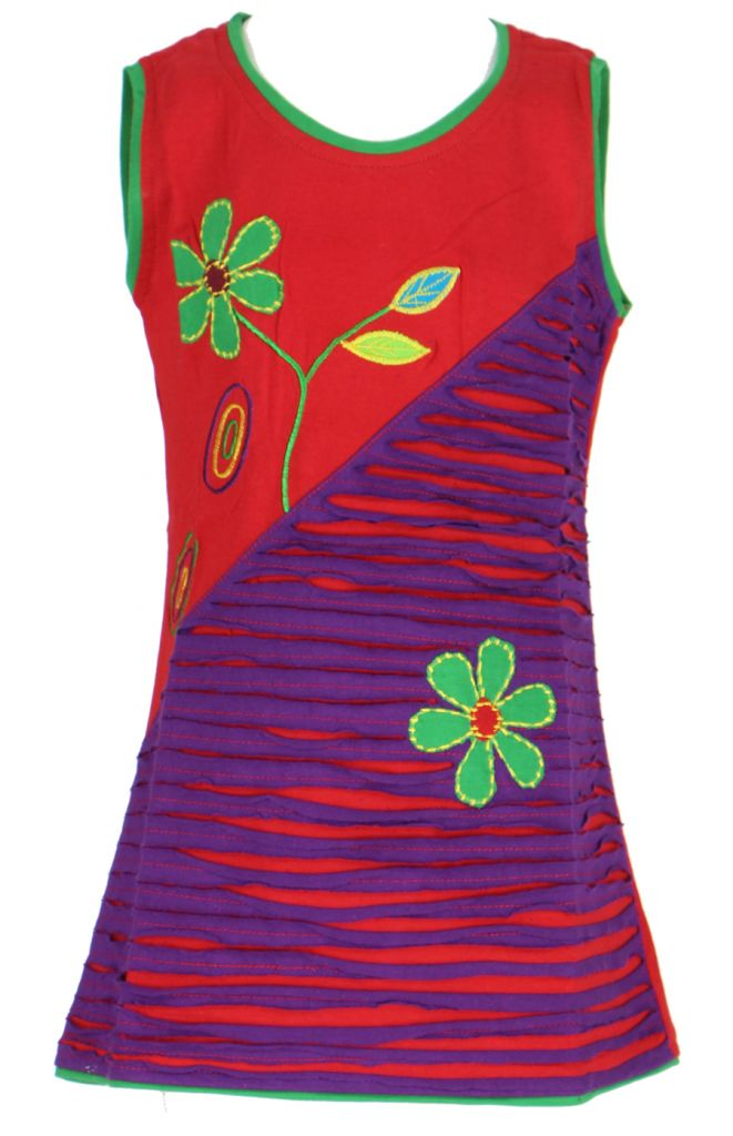 Robe colorée rouge pour fille Laura 268620