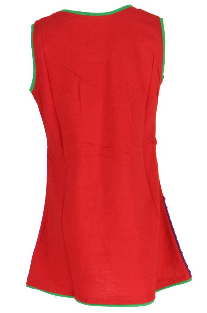 Robe colorée rouge pour fille Laura 268621