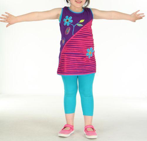 Robe colorée violette pour fille Laura 270795