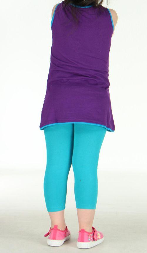 Robe colorée violette pour fille Laura 270796