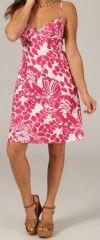 Robe courte à bretelles réglables Imprimée et Gaie Bora Bora 279663