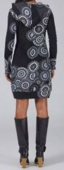 Robe courte à capuche Ethnique et Imprimée Laila 274935