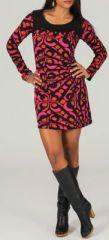 Robe courte à col rond Originale et Ethnique Adélice 274145