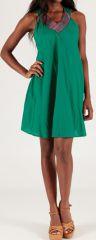 Robe courte à col V sans manches Originale et Colorée Abeline 276725