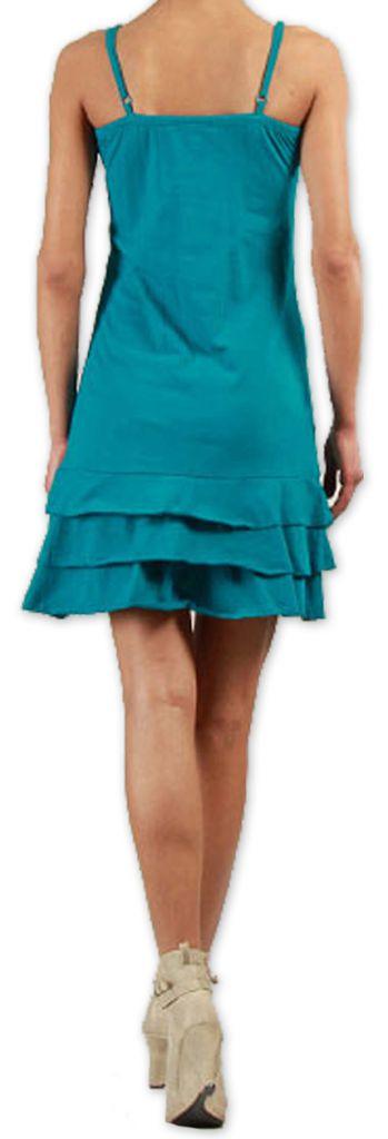 Robe courte à fines bretelles Colorée et Originale Innoa Turquoise 277085