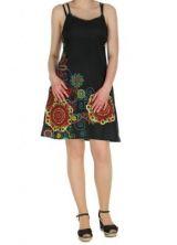 Robe courte � fines bretelles noire jodie 267656