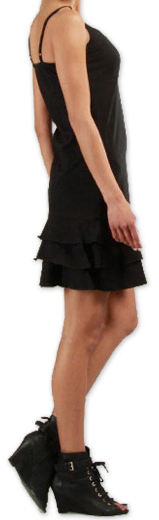 Robe courte à fines bretelles Originale et Colorée Innoa Noire 277080