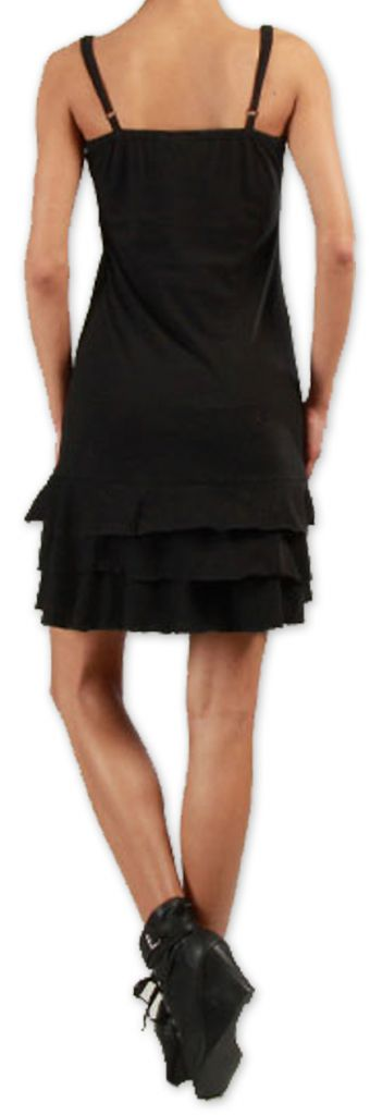 Robe courte à fines bretelles Originale et Colorée Innoa Noire 277081