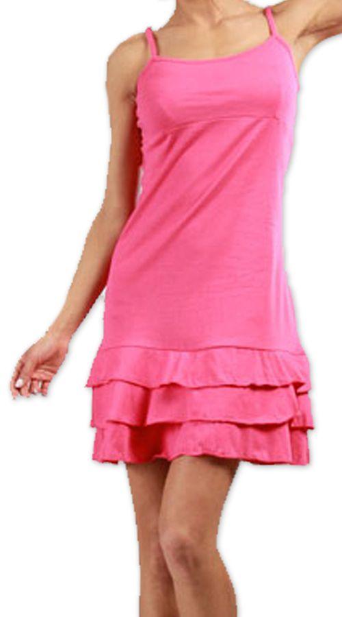 Robe courte à fines bretelles Originale et Colorée Innoa Rose 277090