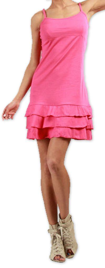 Robe courte à fines bretelles Originale et Colorée Innoa Rose 277091