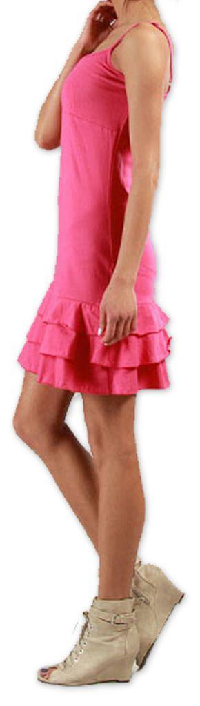 Robe courte à fines bretelles Originale et Colorée Innoa Rose 277092