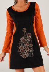Robe courte � large col rond Ethnique et Color�e Balma 277901