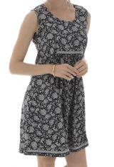 robe courte a larges bretelles et imprimés fantaisies Libera 292148