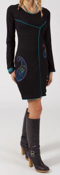 Robe courte à manches longues Chic et Ethnique Marcela 275055